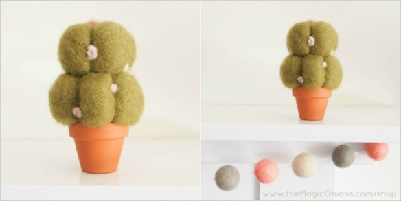 Needle Felted Succulent Plants from The Magic Onions Shop Photo  www.theMagicOnions.com/shop