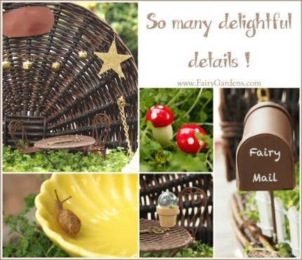 Fairy Garden in a suitcase : www.FairyGardens.com