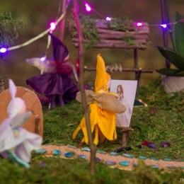 Photo of A Magical Nighttime Fairy Garden : www.FairyGardens.com