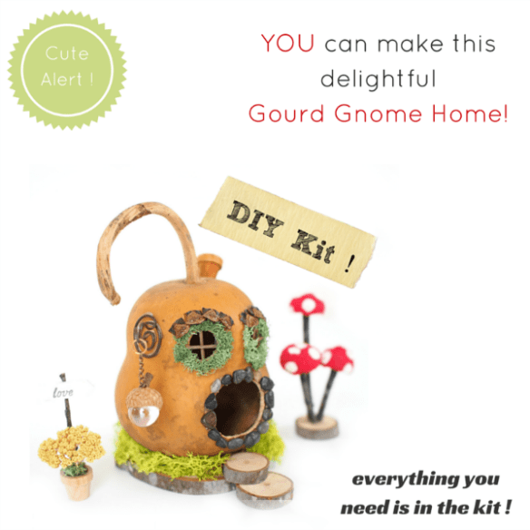 DIY Gourd Gnome Home Crafting Kit : www.theMagicOnions.com/shop