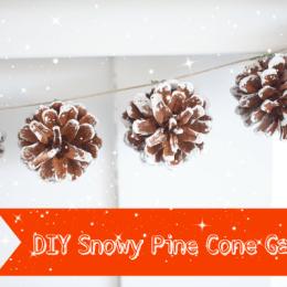 Snowy Pine Cone Garland for Christmas : DIY Tutorial