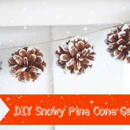 Snowy Pine Cone Garland for Christmas : DIY Tutorial