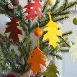 Felt Leaf Ornaments : Crafts for Thanksgiving