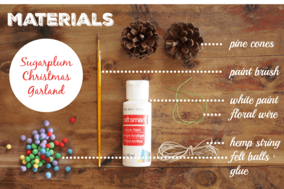 Christmas Sugarplum Pine Cone Garland DIY Tutorial :: www.theMagicOnions.com