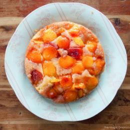 Upside-Down Peach Cake Recipe : Baking With Kids