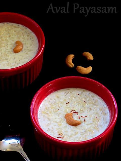 Aval Payasam   Rice Flakes Payasam