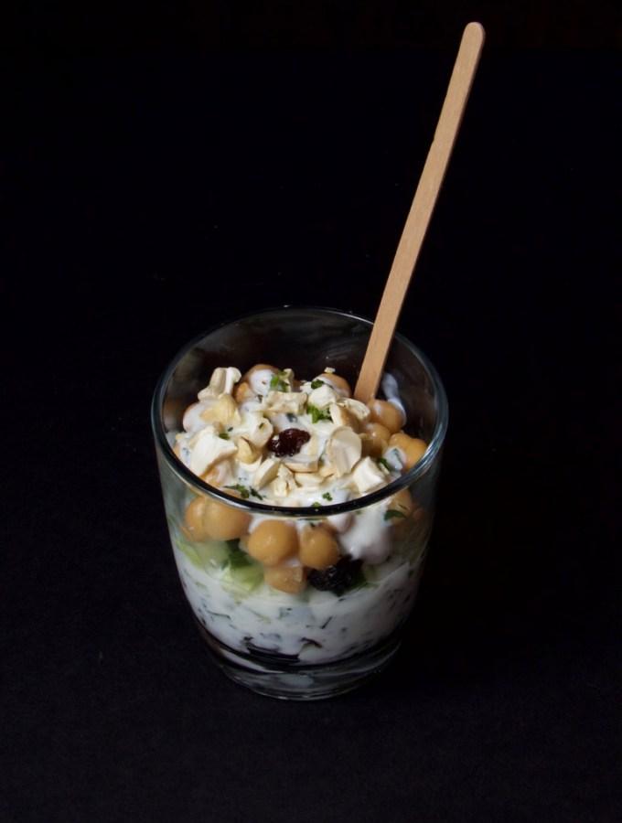 Chickpea herb Yogurt Parfait