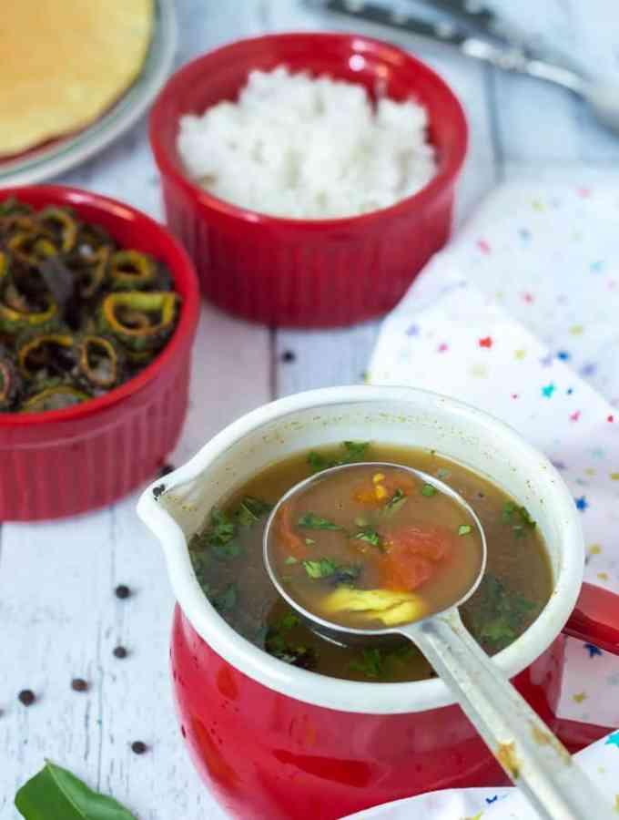 Instant Milagu Rasam (pepper cumin soup)