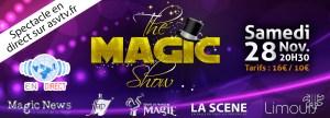 spectacle de magie diffusé en direct sur la web tv de l'ASV TV