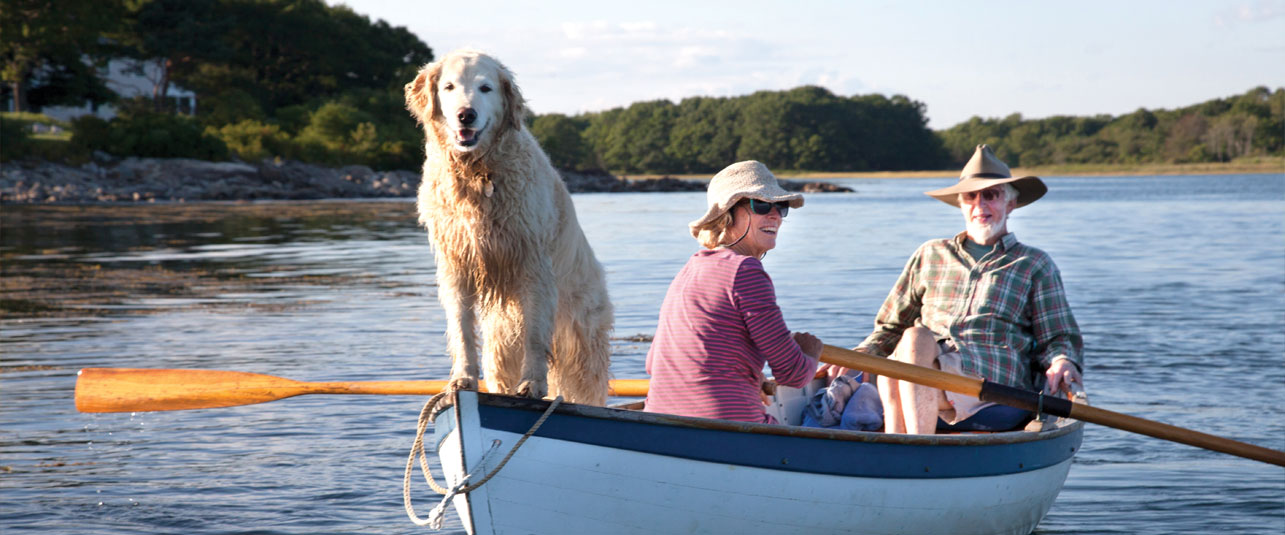 Rowing along the Kennebunk River
