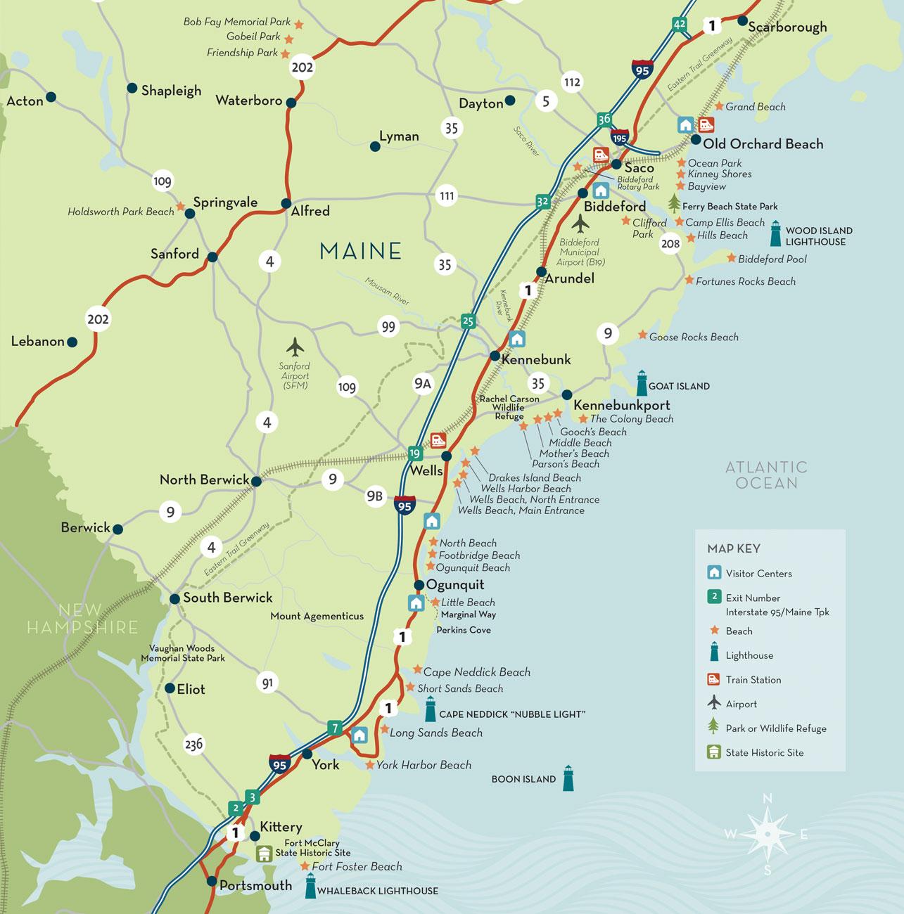 The Maine Beaches Map