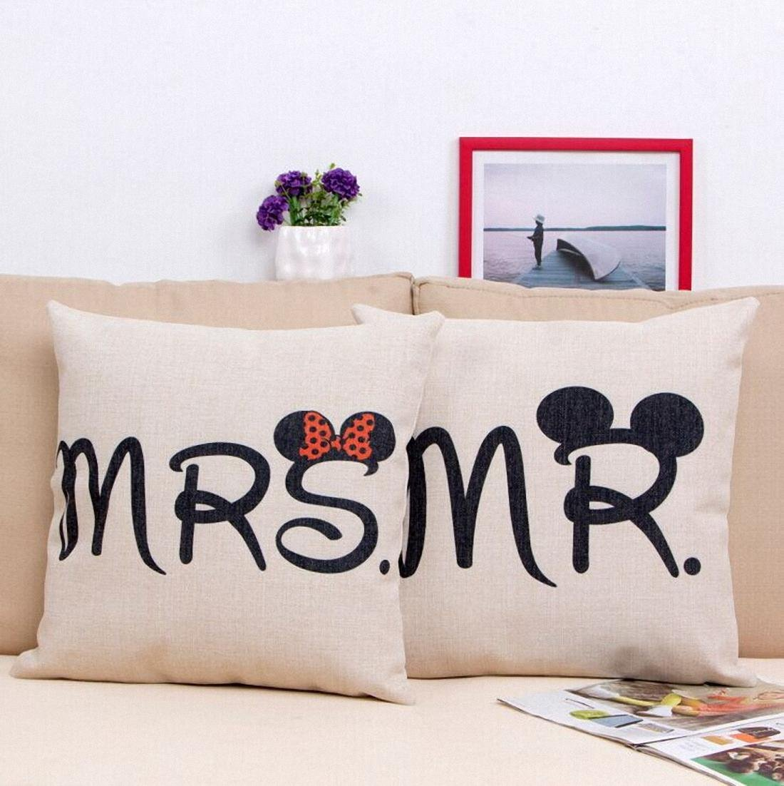 mickey mouse sofa 4 seat recliner and minnie throw pillows
