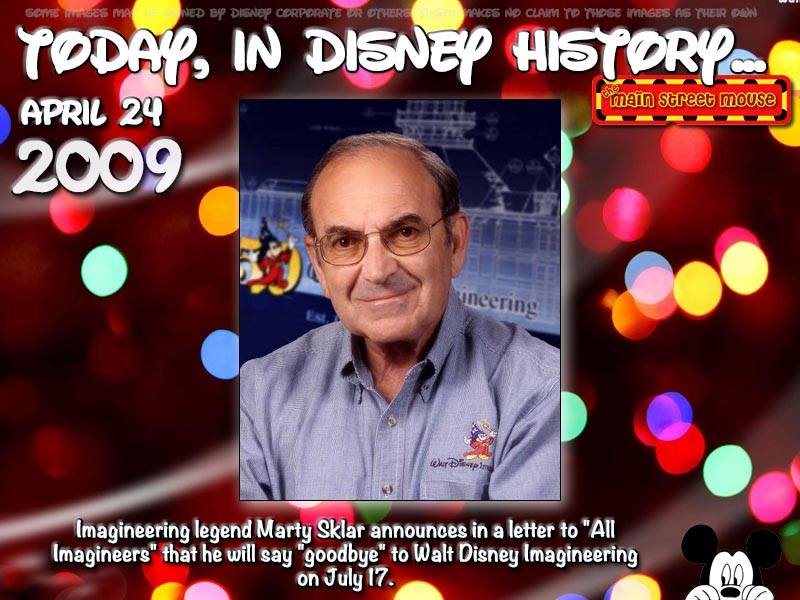 Today In Disney History ~ April 24th - The Main Street Mouse