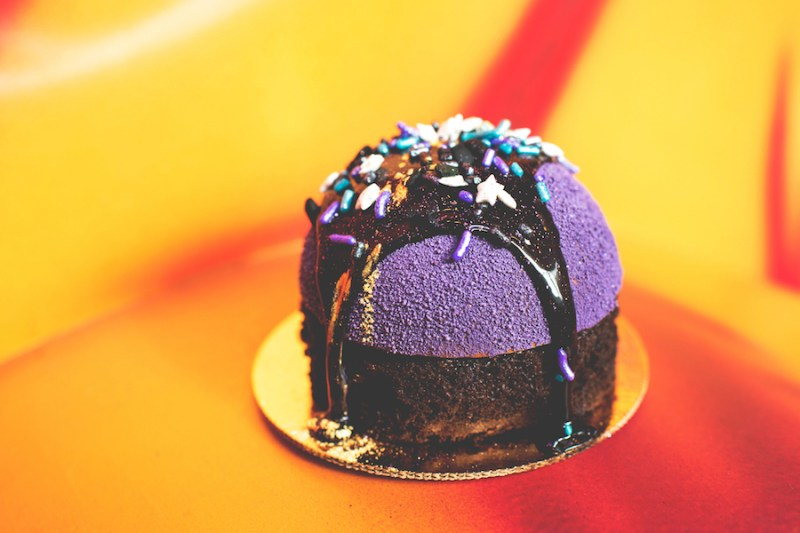 Purple Starry Sky Cake at Disney's All-Star Resorts