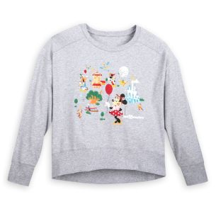 Disney Parks Life Collection heather gray pullover top for women