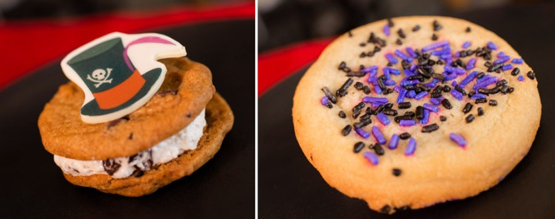 Villain Desserts from Contempo Café for Villaintines Day at Disney's Contemporary Resort - Dr. Facilier Cookie Sandwich and Villain Sugar Cookie