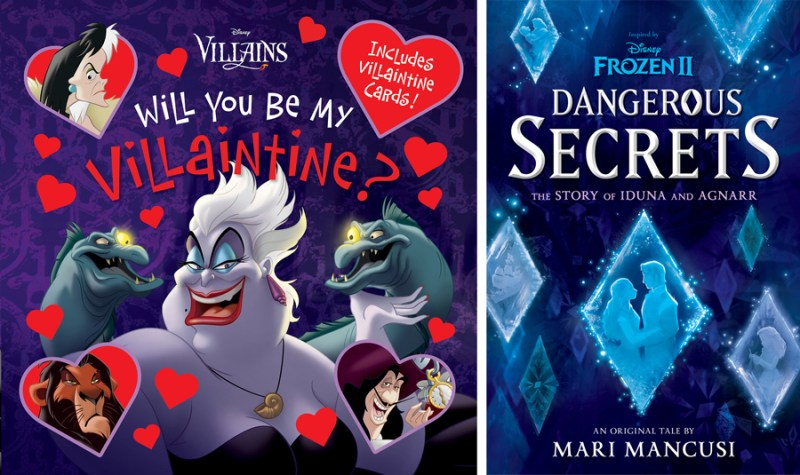 """Will You Be My Villaintine?"" and ""Frozen 2: Dangerous Secrets: The Story of Iduna and Agnarr"" Books"