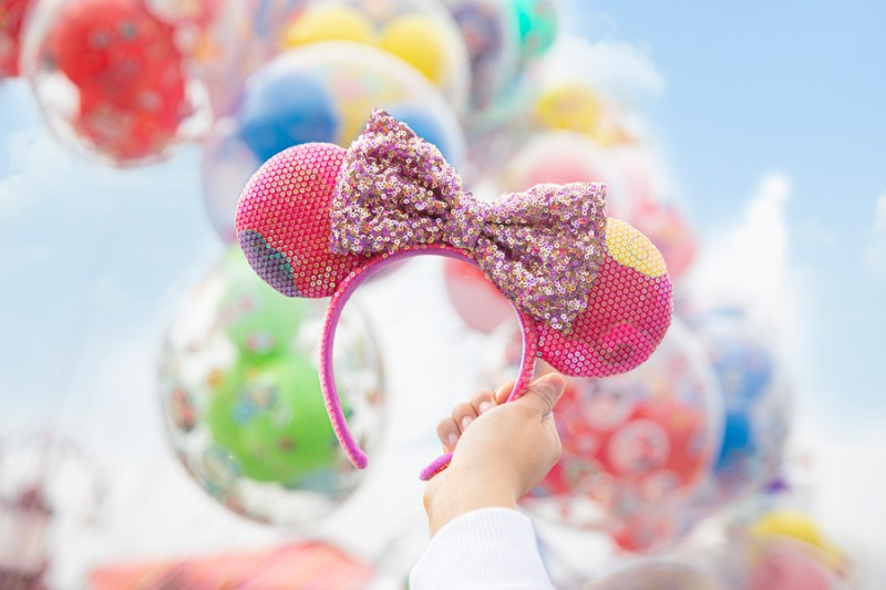 Shanghai Disney Resort - Minnie ear headband with Chinese auspicious cloud elements that represent good luck