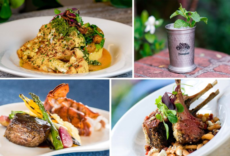 Mint Julep non-alcoholic beverage and other items available at Blue Bayou