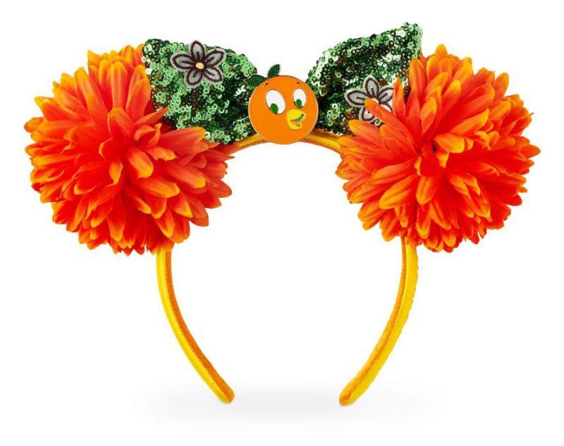 floral Minnie Mouse headband featuring Orange Bird