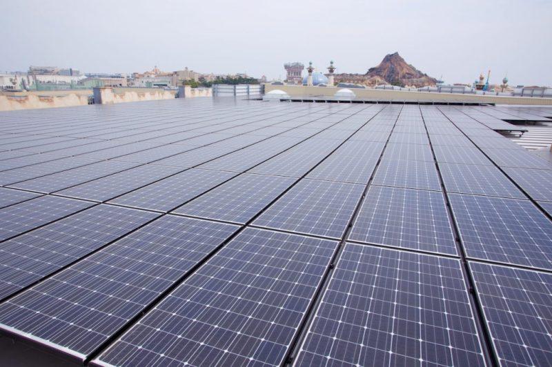 Solar panels at Tokyo Disney Resort