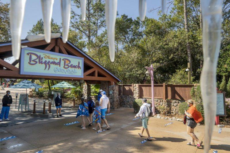 Guests entering Disney's Blizzard Beach Water Park
