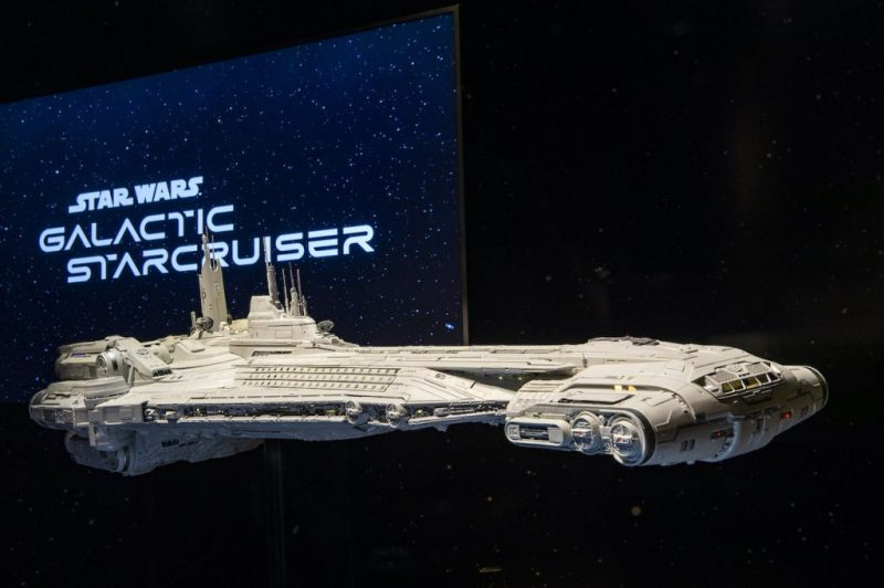 A model of the Halcyon starcruiser is viewable by guests for a limited time in Disney's Hollywood Studios