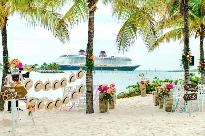 Wedding venue on Castaway Cay
