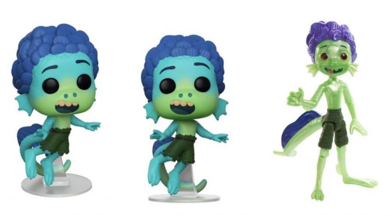 "4.25"" vinyl Funko Pop! Figure and Disney and Pixar's Luca Action Figure by Mattel"