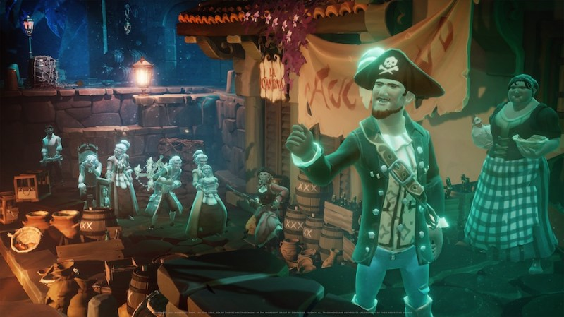 """Screen shot from the new """"Sea of Thieves: A Pirate's Life"""" game"""