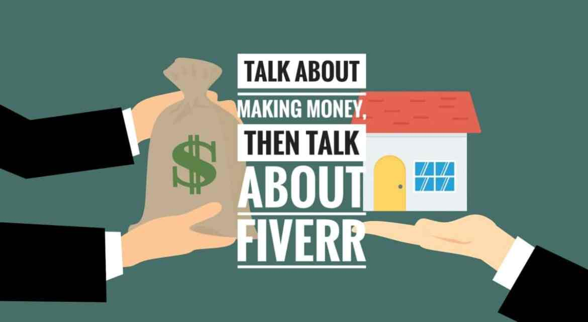 Hands of people holding the money and the home they built from the money they made from fiverr