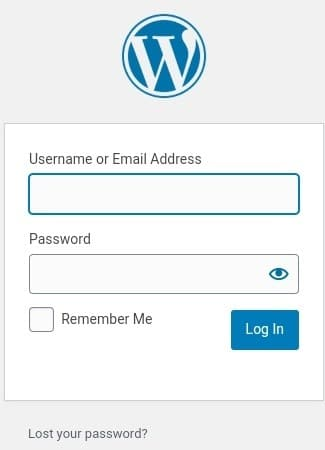 An image displaying identity log in to WordPress in order to add banners in WordPress