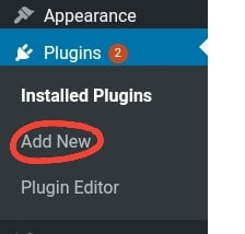 Second image of the plunging installation steps in wordpress