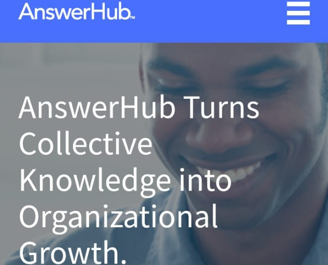Illustration image on Answerhub sign up page one of the great stackoverflow alternatives