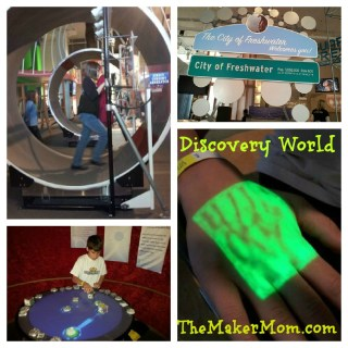 kid friendly science and STEM exhibits at Discovery World Museum Milwaukee, WI