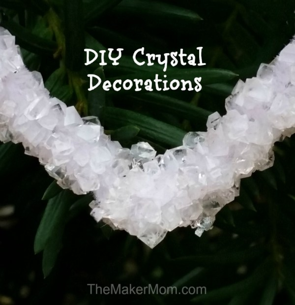 Make your own crystal decorations with borax. Instructions for this and other fun DIY activities on www.TheMakerMom.com.
