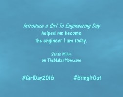 Meet Sarah Mihm for Introduce a Girl to Engineering Day