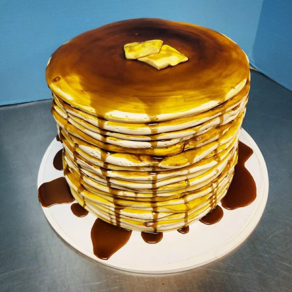 Stack Of Pancakes Birthday Cake