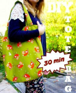 The Makeup Dummy | DIY Fox tote bag - make it in 30 minutes