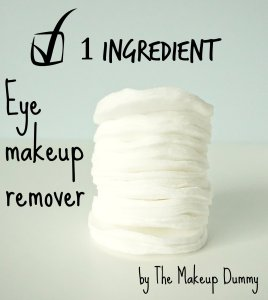 How to make your own very easy eye makeup remover pads - only 1 magic ingredient! A DIY by The Makeup Dummy
