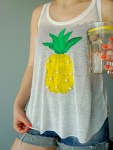 How to make your own easy Pineapple Print Shirt A DIY by The Makeup Dummy
