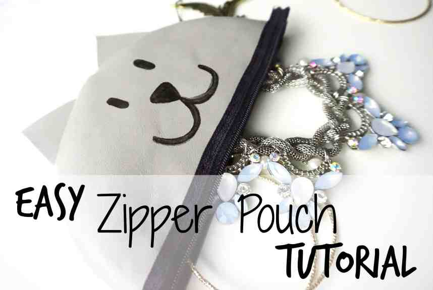 How to make your own easy zipper pouch tutorial | DIY by The Makeup Dummy