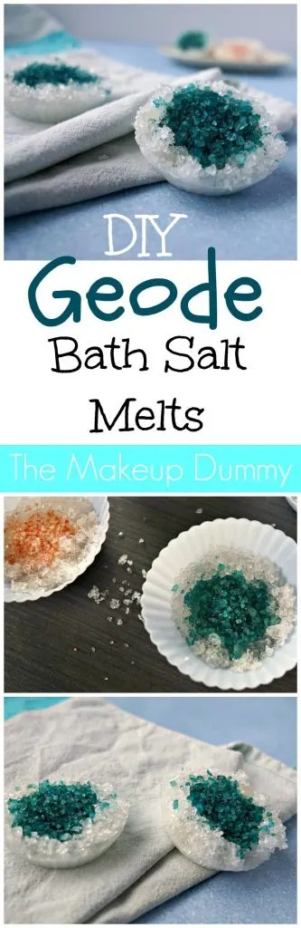 These look so Beautiful! DIY GEODE Bath Salt Melts with Epsom salt. Easy How To Tutorial by The Makeup Dummy