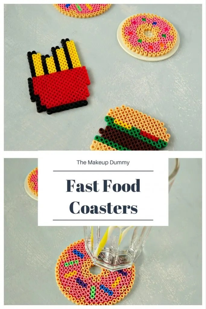 DIY Fast Food Perler Bead Coasters for Summer How To Tutorial by The Makeup Dummy