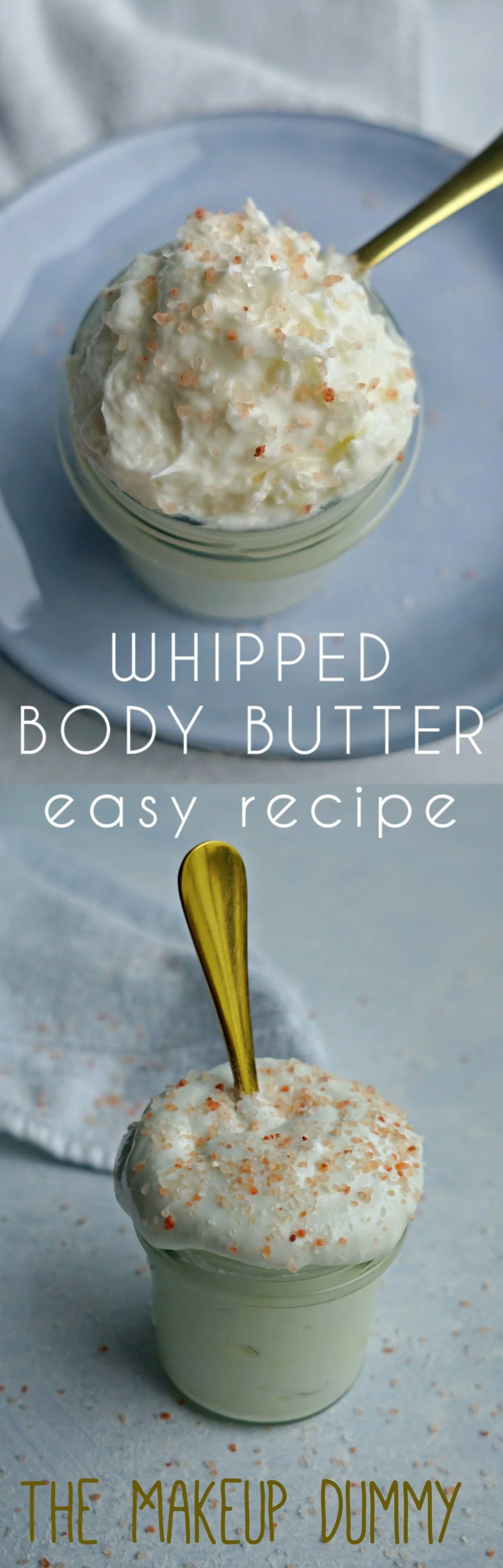 BEST easy whipped body butter recipe for dry skin and eczema #diybeauty #naturalbeauty