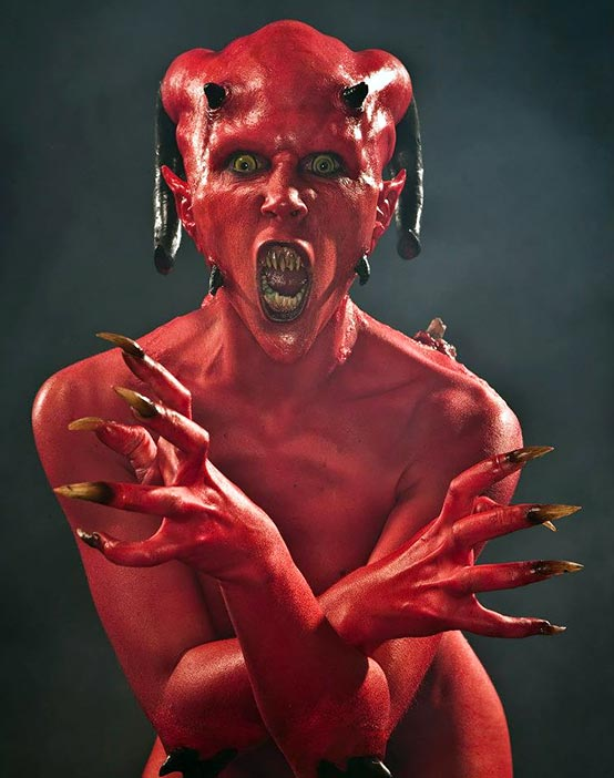Gina Varela in The Devils Rock  demonically possessed  horror makeups  themakeupgallery