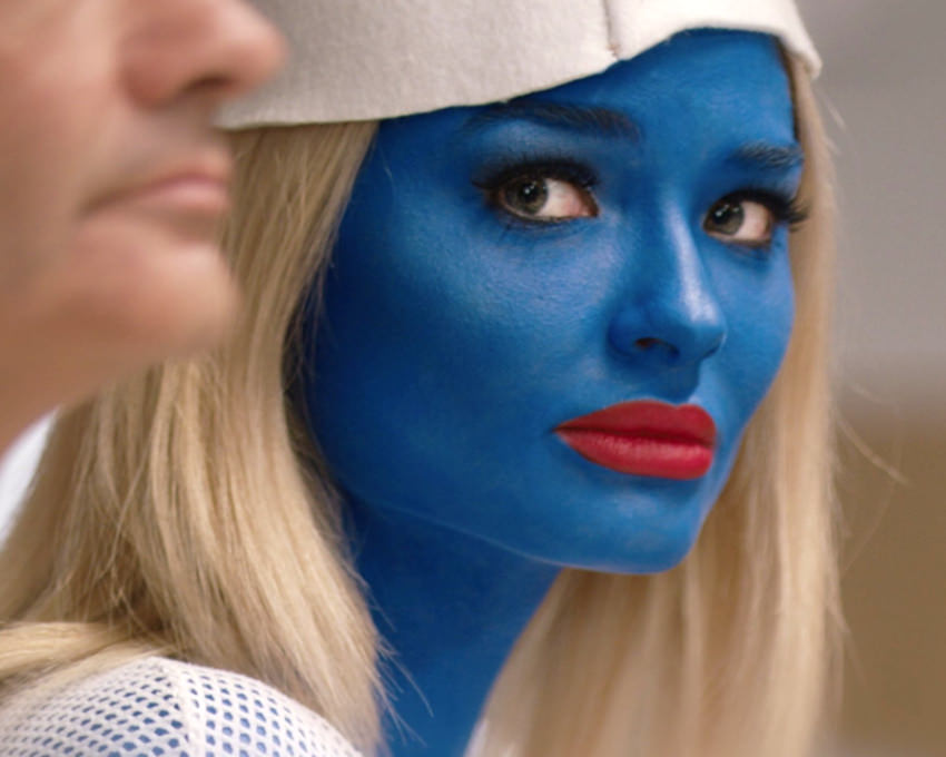 Emma Rigby in The Festival  bodypainting  various