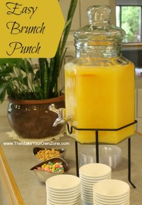 Easy Punch Recipe for a Morning Brunch Shower