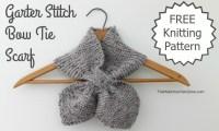 Free Knitting Pattern - Garter Stitch Bow Tie Scarf