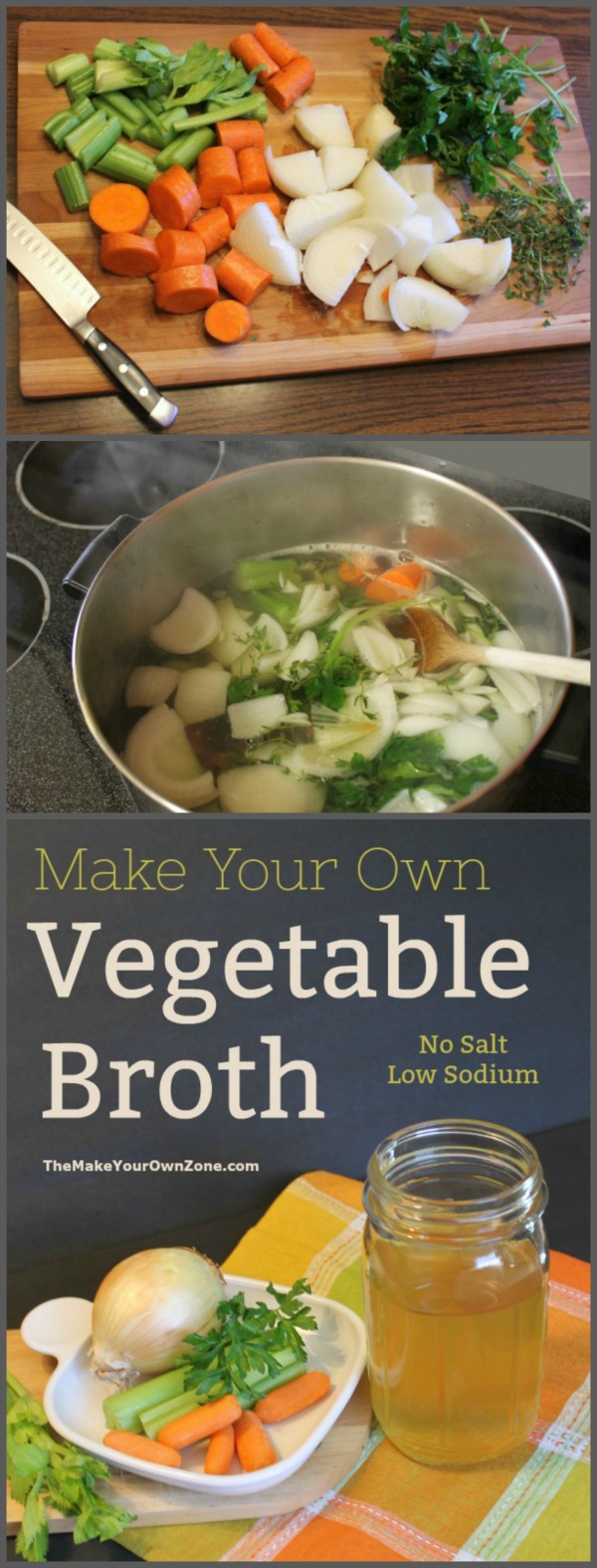How to make your own vegetable stock - An easy homemade recipe to make homemade low sodium vegetable broth